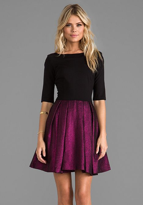 Purple Winter Formal Dress