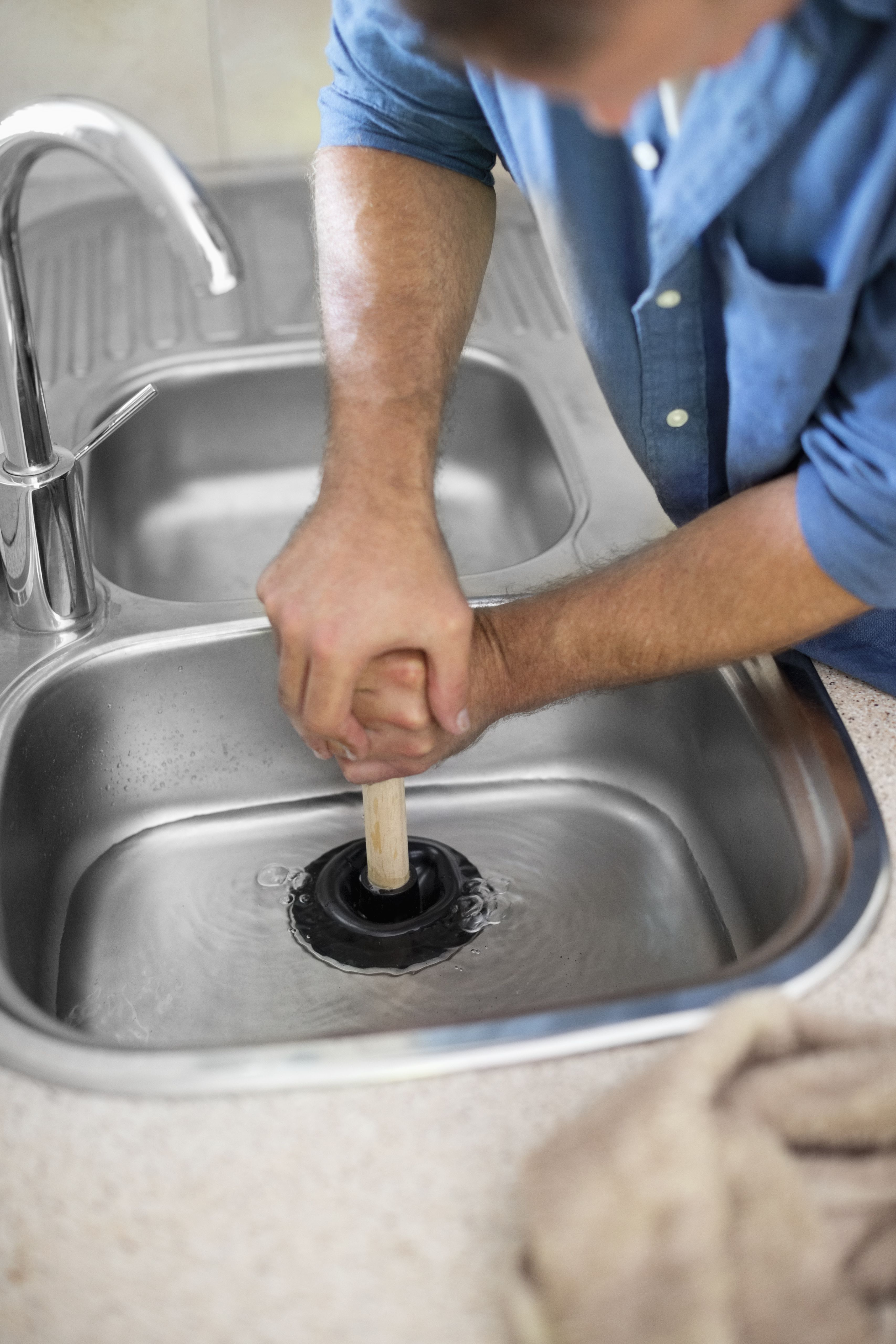 How To Unclog Your Kitchen Sink With Images Kitchen Sink