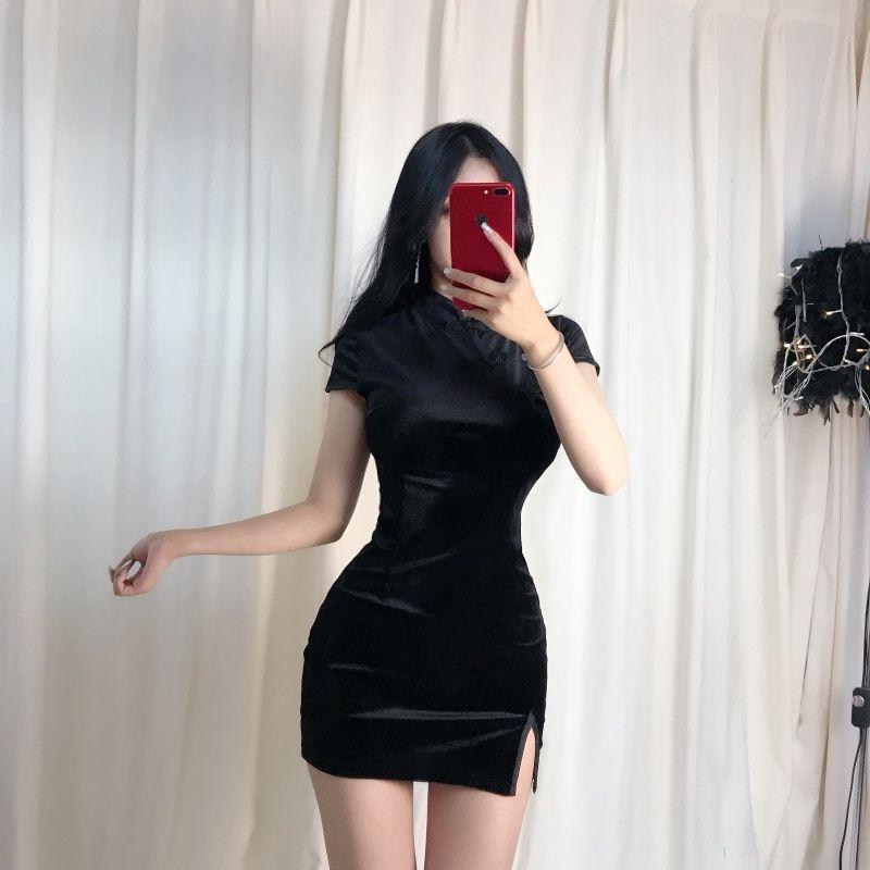 Basic Summer Velvet Dress