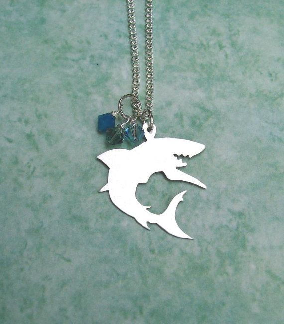 Shark Necklace Hand Cut Pendant