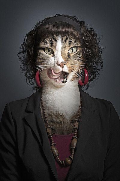 Dizem que os pets ficam parecidos com seus tutores. No projeto Undercats, Sebastian Magnani decidiu unir fotos de gatos e...