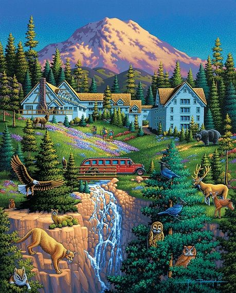 Jigsaw puzzle Colorful picture  Puzzle online on