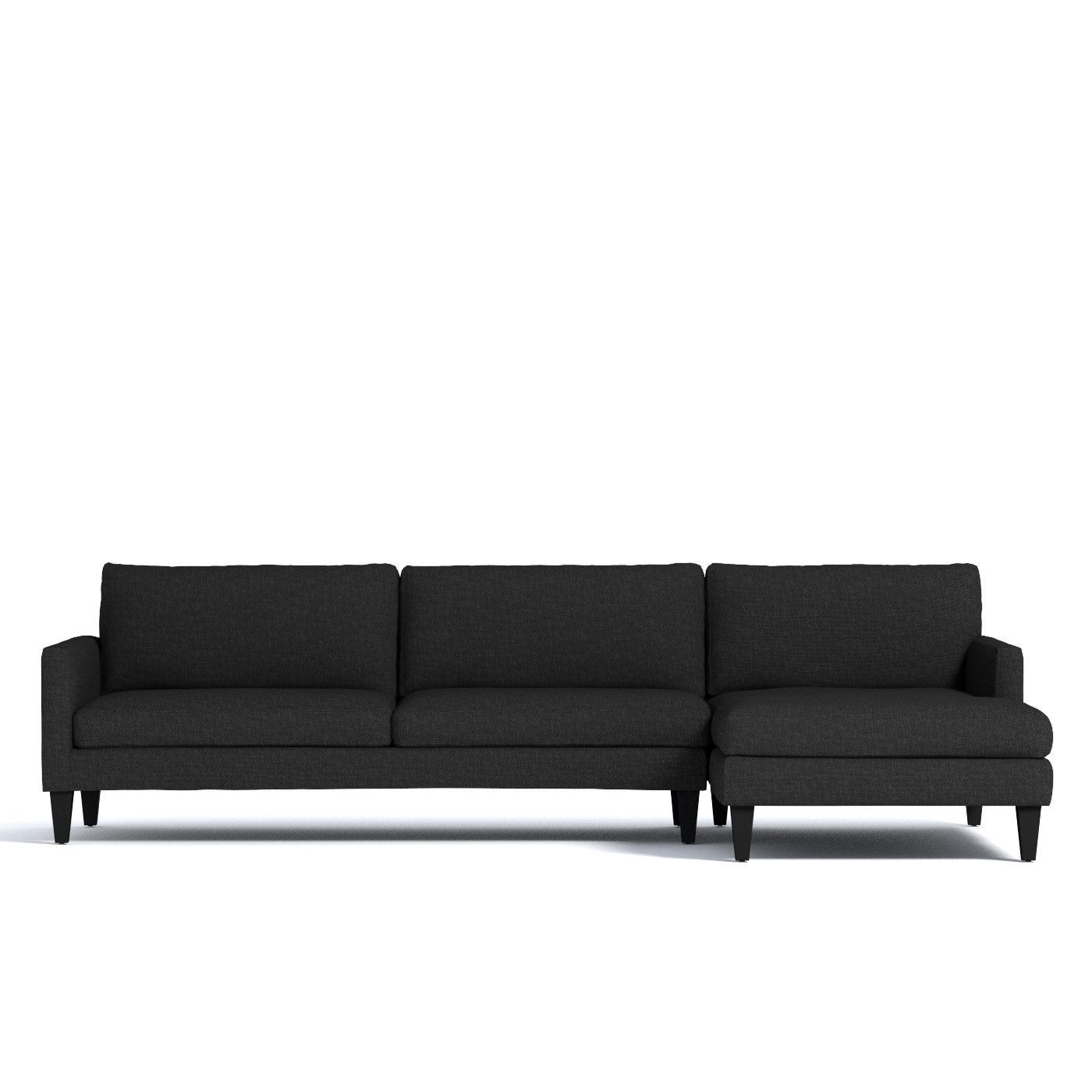 This Sharp Low Profile Sectional Is The Pinnacle Of Modern Style
