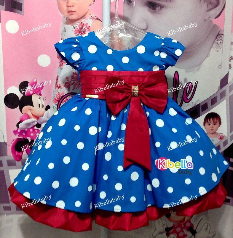 2a7af95fde Vestido Infantil Galinha Pintadinha Faixa Vermelha Luxo - tam 1 ao 3 ...
