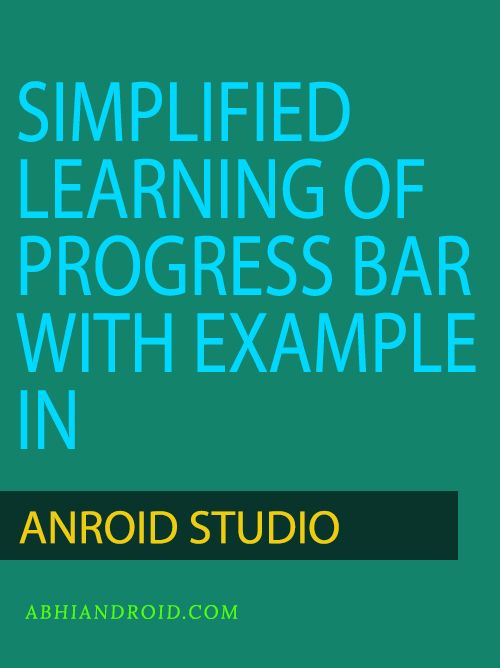 In #Android, #ProgressBar is used to #display the status of