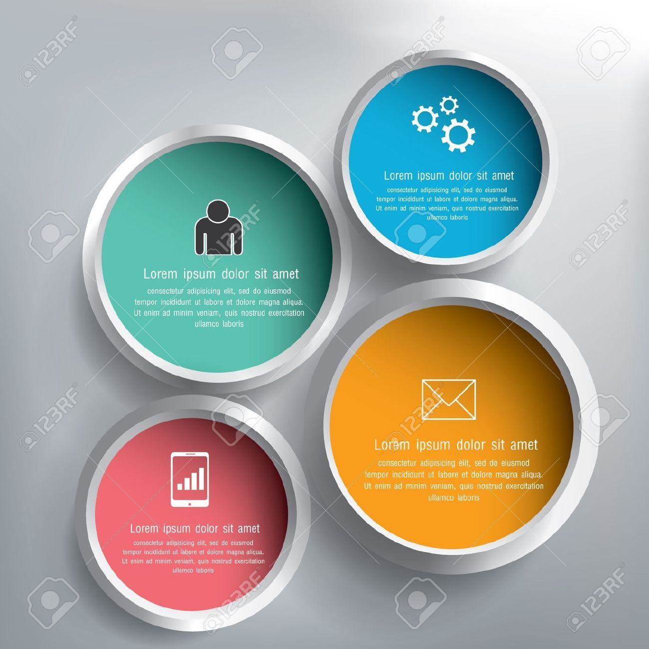 21074326-Abstract-3D-circle-infographics-design-Stock-Vector ...