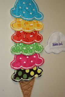 Diy ice cream scoop reward chart the one in tutorial is fabric and so bright cheerful adapt to make with scrapbook paper clear contact for also rh pinterest