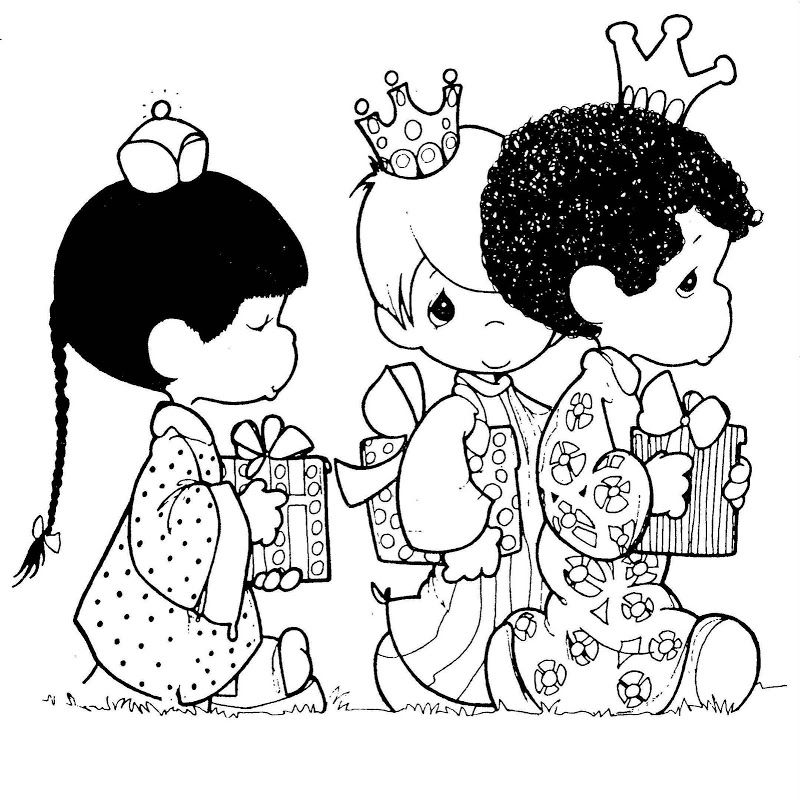 Three wise men - free precious moments coloring pages | Coloring ...