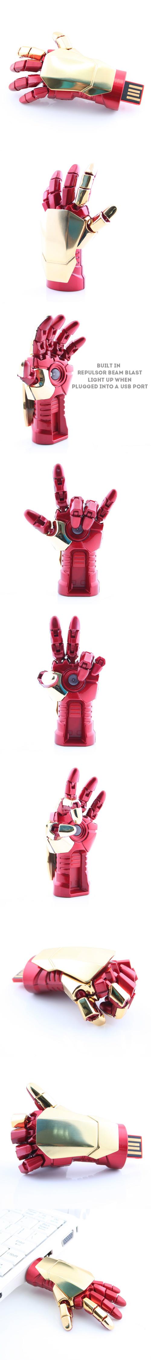 Iron Man 3 Gauntlet USB Flash Drive http://www.usbgeek.com/products/iron-man-3-gauntlet-usb-flash-drive