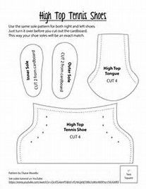 graphic about 18 Inch Doll Shoe Patterns Free Printable titled Pin upon fairies and dolls