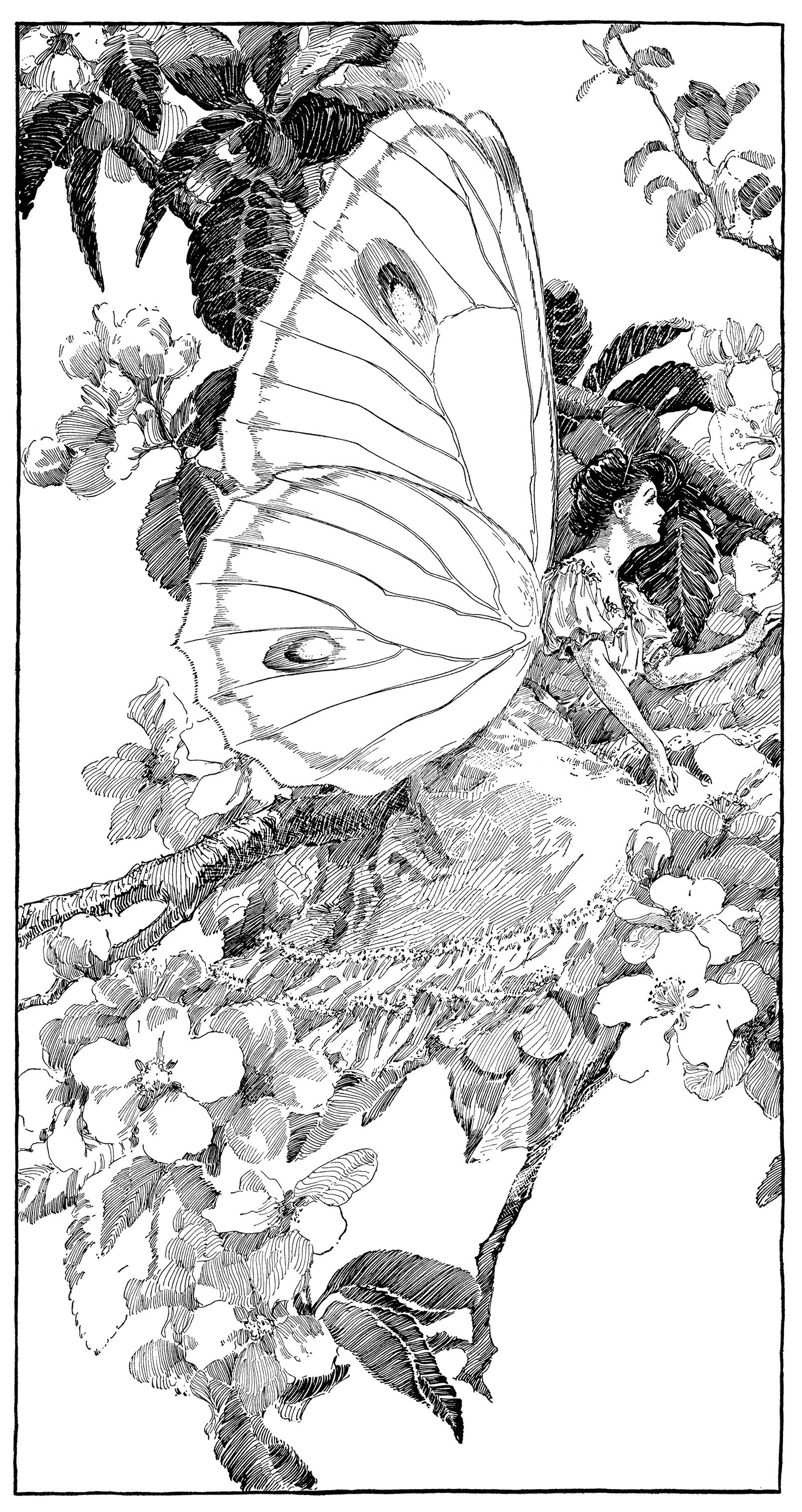 vintage clipart butterfly printable fairy graphics digital fairy