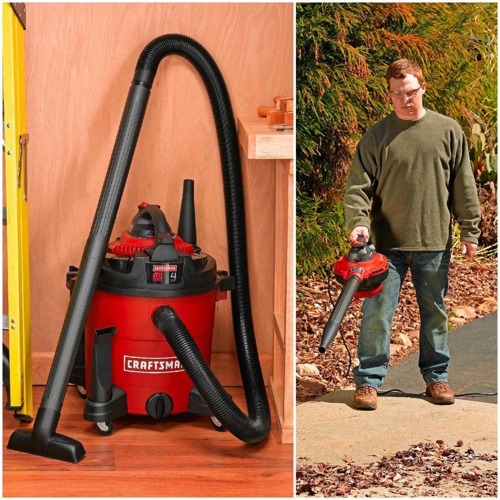 Craftsman Vac Wet Dry 10 Gallon Vacuum Cleaner 4 Peak Hp Leaf