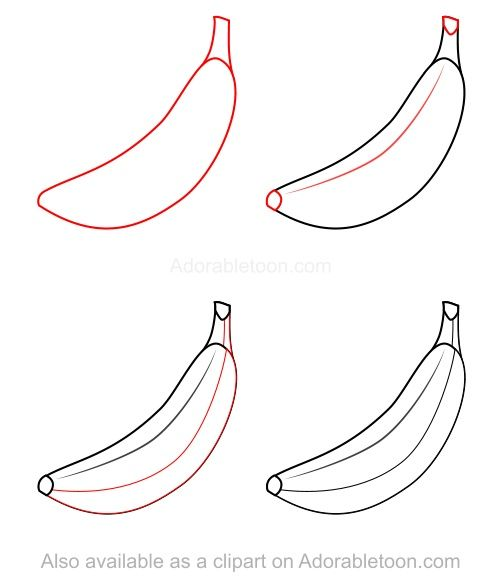 how to draw a banana how to draw pinterest bananas