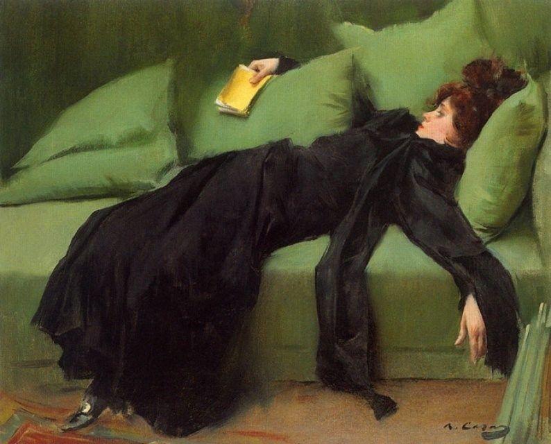 Ramon Casas, Jove Decadent (Impulsive Young Woman), 1899