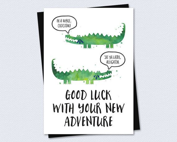 Farewell Card / Goodbye Card   Good Luck With Your New Adventure    Printable Card  Good Luck Card Template