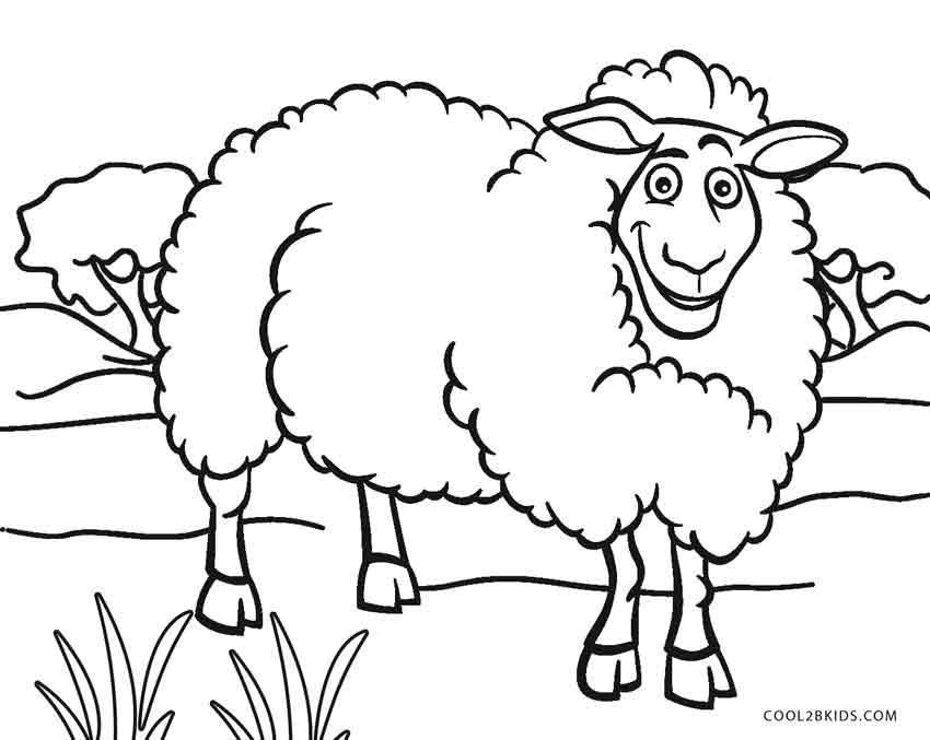 Coloring Face Pages Sheep 2020 Raskraski