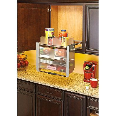 Rev A Shelf 24 Inch Universal Pull Down Shelf Wall Cabinet Kitchen Cabinet Remodel Beautiful Kitchen Cabinets
