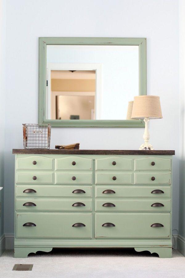 15 Eye Catching Dresser Diys Dresser Design Mint Green Dresser