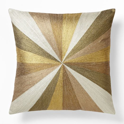 Decorative Pillows At West Elm : Embroidered Metallic Bull s-Eye Pillow Cover - Multi west elm Home accessories Pinterest ...