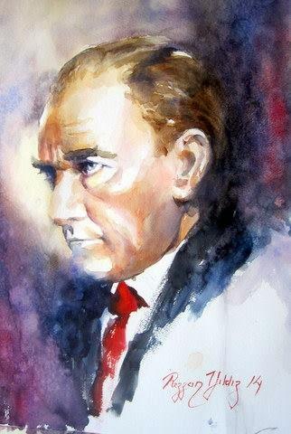 Ressam Rezzan Yildiz Ataturk Serisi Portre Resim Gercekci Cizimler Sulu Boya