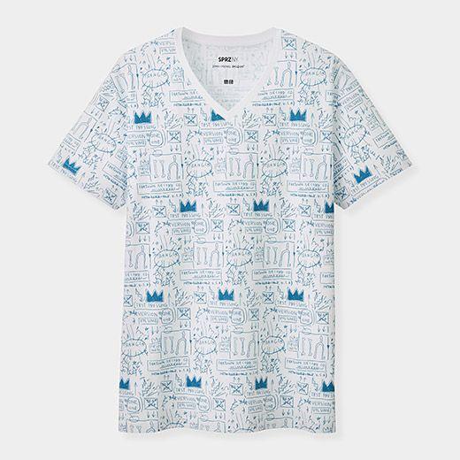 2c8bcbcd38 UNIQLO Jean-Michel Basquiat V-Neck T-Shirt