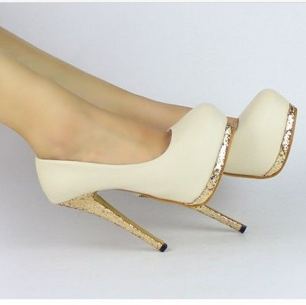 4a21697f84ee New Sexy Women Bling Platform Apricot Black Club High Heels Pumps Stiletto  Shoes