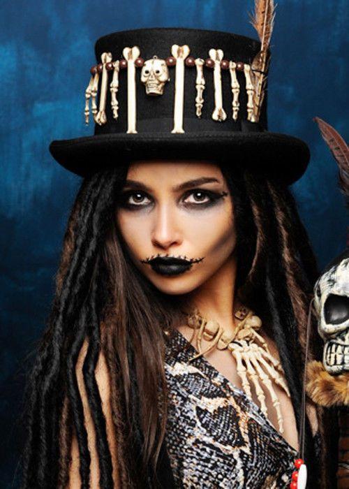 Ladies Gothic Skull Headband Tribal Voodoo Enchantress Halloween Fancy Dress UK