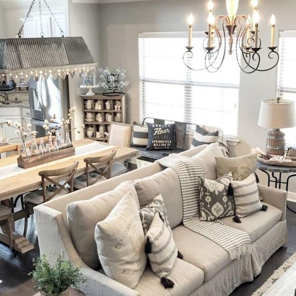60+ Wonderful Rustic Modern Farmhouse Living Room | Modern ...