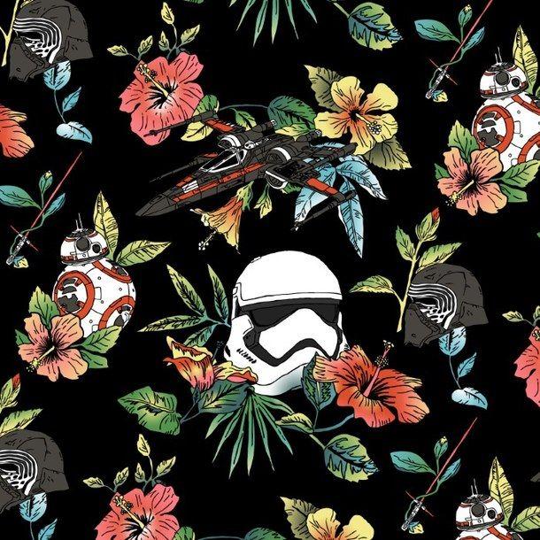 Background Flower Pattern Star Wars Star Wars Background Star Wars Wallpaper Star Wars Art