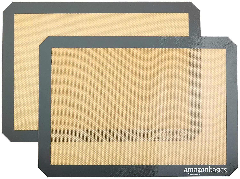 Amazonbasics silicone baking mat 2 pack silicone