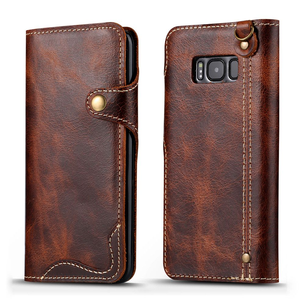 release date: ed20e 2d80d New luxury brand genuine leather case for samsung galaxy s8 or s8 ...
