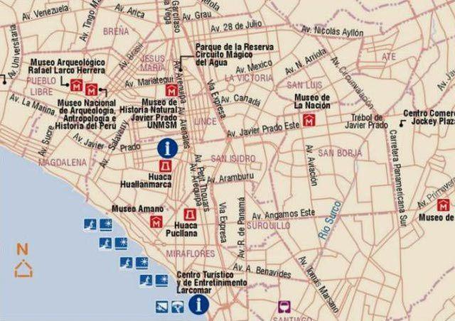 Mapas del Per turismo