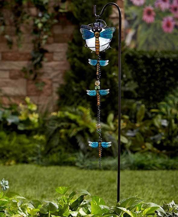 solar garden stake dangler dragonfly shepherds hook lighted globe lantern stake shepherds hooksolar lightssolar pathway lightsyard