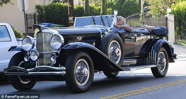 What A Deusy Jay Leno Takes His Duesenberg Convertible Out