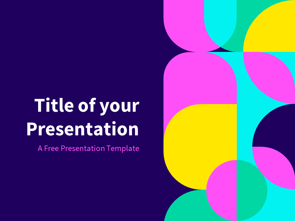 Eighties - Abstract Geometry Template for PowerPoint and ...