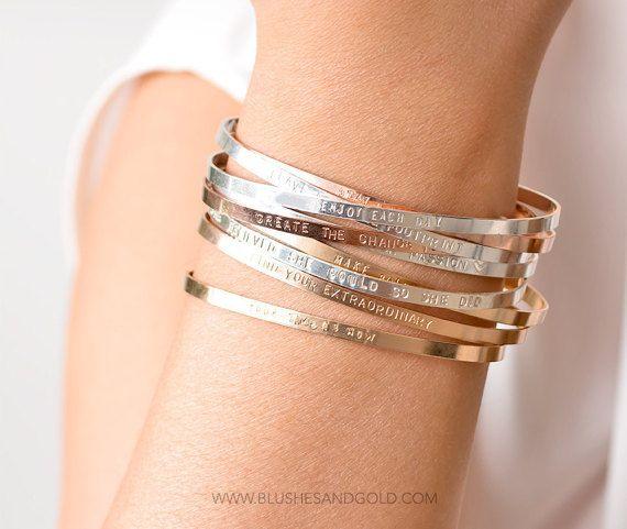 230e522d151 Rose Gold Cuff Bracelet Thin Rose Gold Filled by BlushesAndGold ...