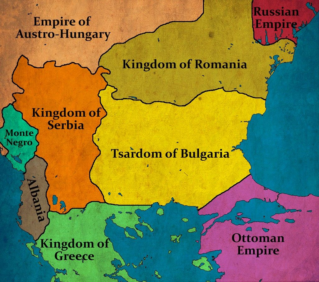 Bulgaria according to the treaty of London, June, 1913