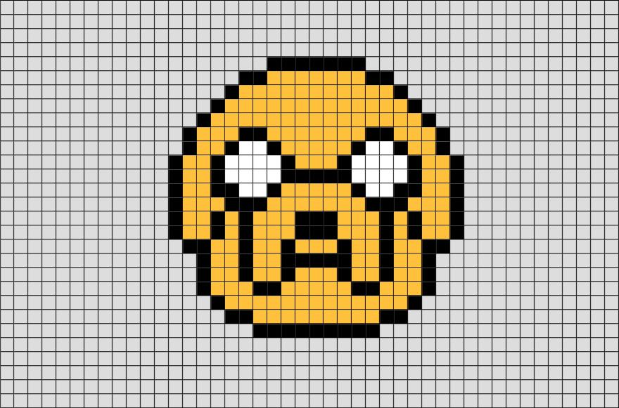 Adventure Time Jake Pixel Art Brik Pixel Art Designs Pinterest