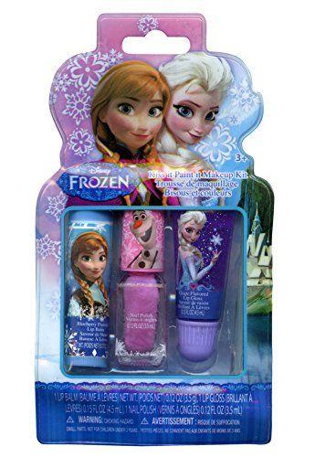 Amazon.com: Disney Frozen Girls Kiss It Paint It 3 Piece Makeup Set: Toys & Games