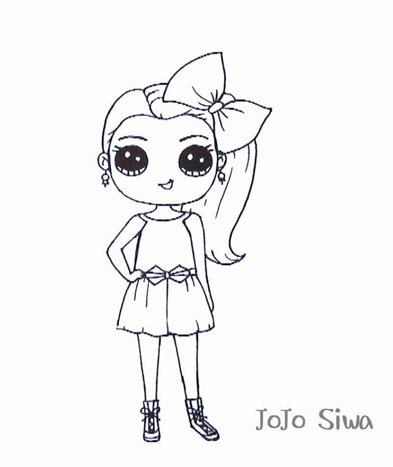 Coloring Pages Jojo Siwa