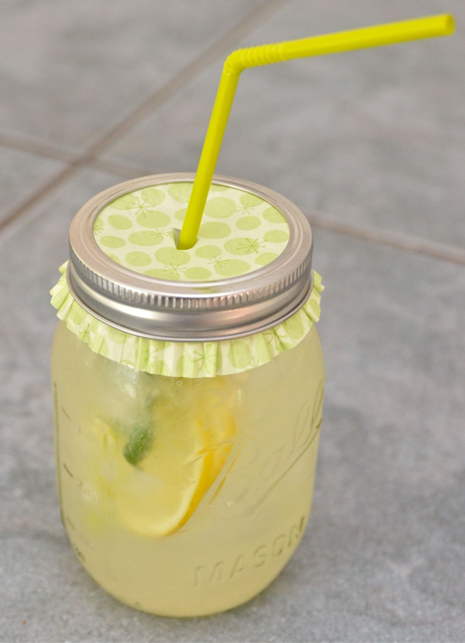 Flipped over, cupcake liners (which are always available in party-ready patterns), are a handy way to keep bugs away from your lemonade.