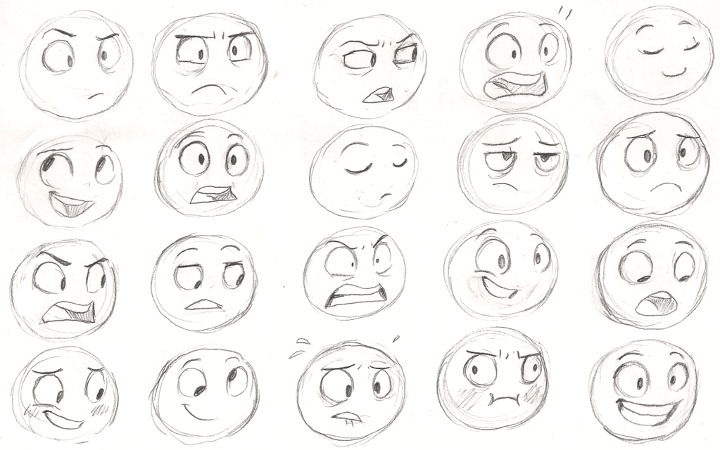 Expressions By Sharpie91 On Deviantart Drawing Expressions Cartoon Drawings Drawings