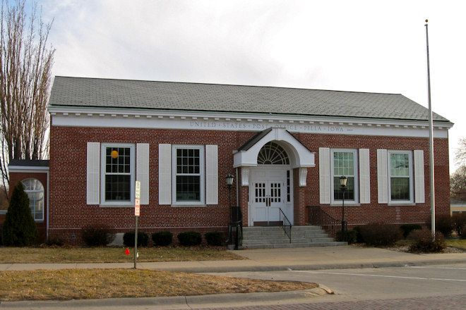 Historic post office in Pella, Iowa. Opened April 1937.