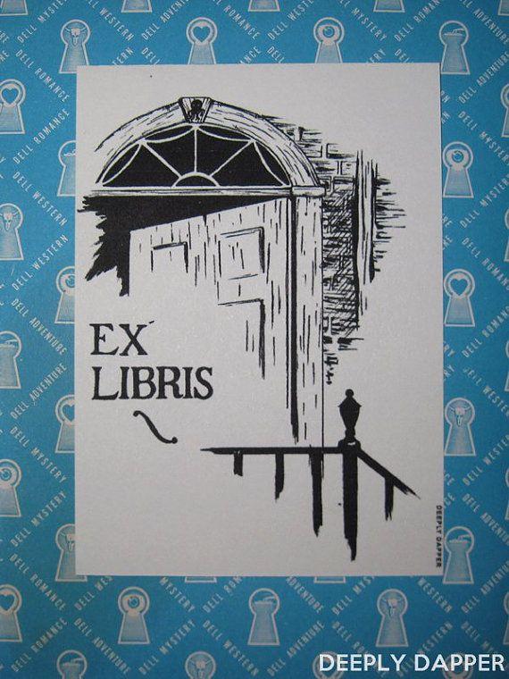 HP Lovecraft Ex Libris Replica Library Bookplate