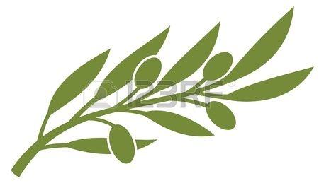 olive branch (olive symbol)   A.Giraud   Dessin, Olivier ... Оливковая Ветвь Вектор