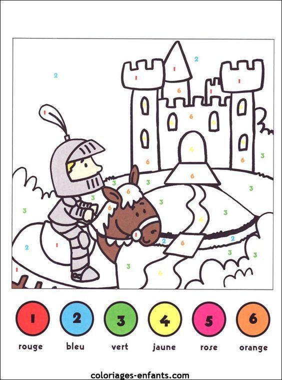 jeux de chevaliers sur coloriages-enfants | Ridders, Prinses knutselen