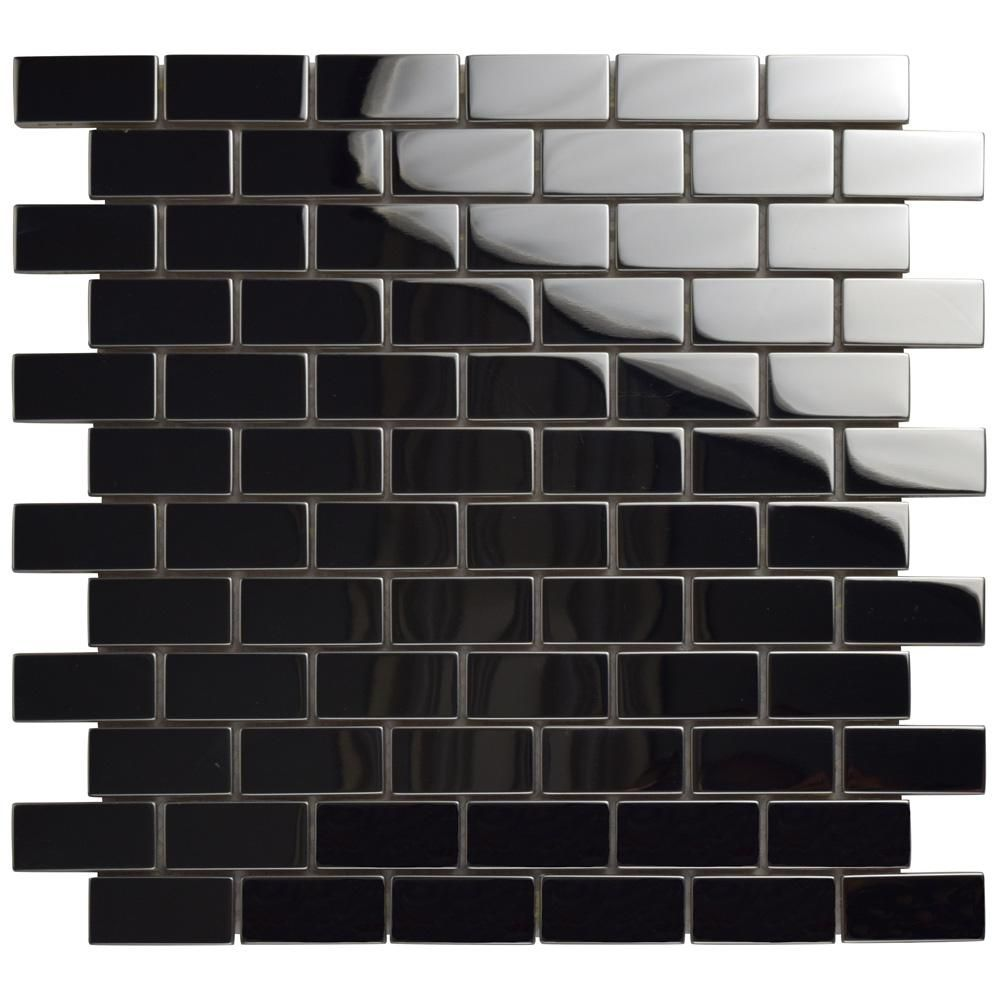 Merola Tile University Light Grey 11 3 4 In X 11 3 4 In X 5 Mm Porcelain Mosaic Tile 9 8 Sq Ft Case Fkouv473 The Home Depot Porcelain Mosaic Tile Porcelain Mosaic Mosaic Flooring