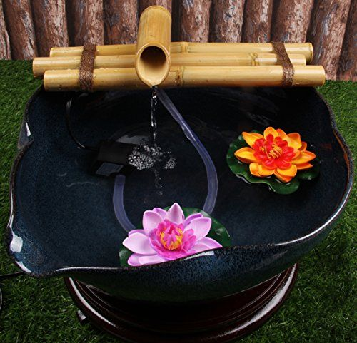 Zen Bambou Fontaine à eau avec pompe Medium 305cm trois bras de - fontaine a eau d interieur