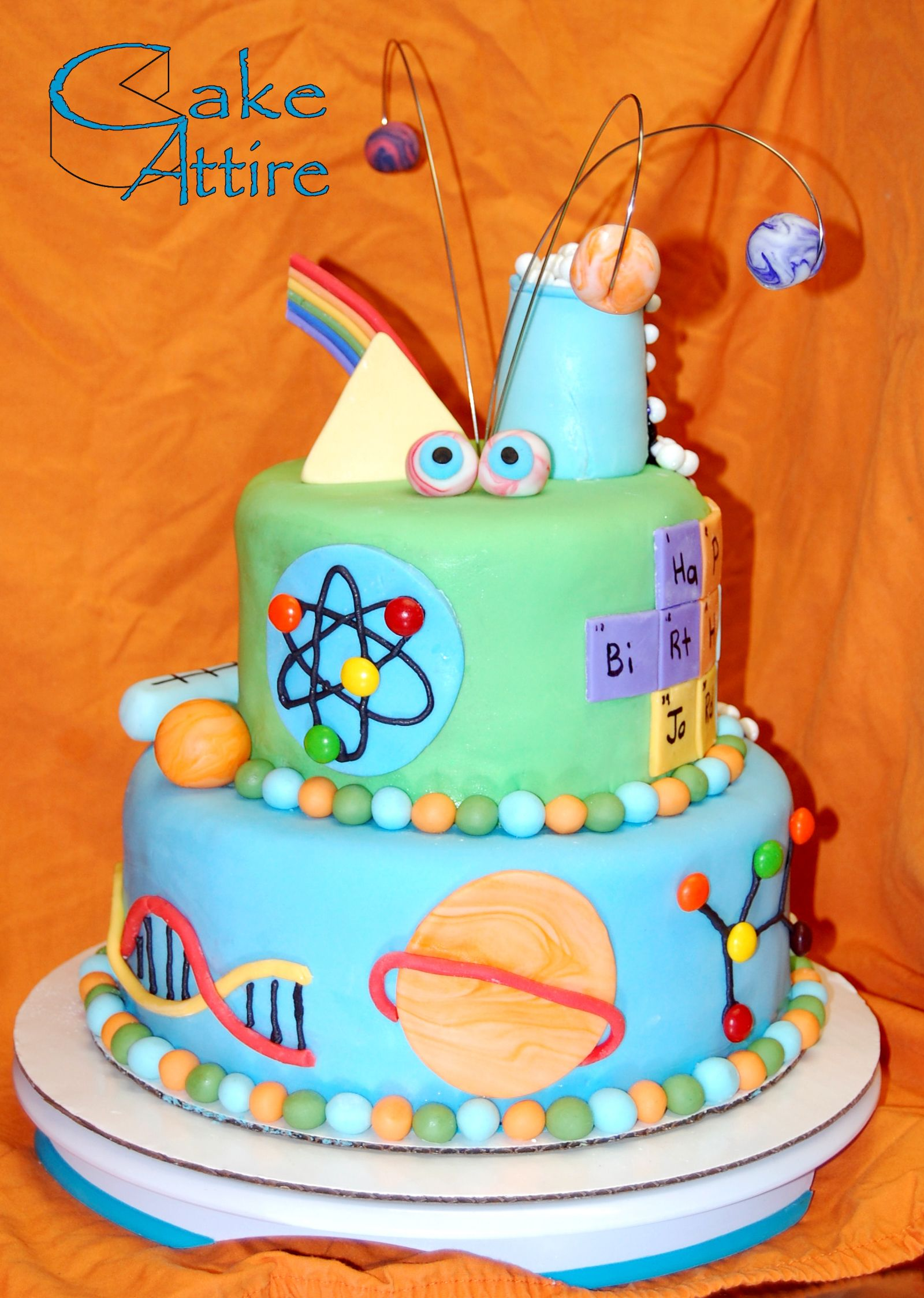 Magnificent Mad Science Birthday Cake With Images Science Cake Scientist Personalised Birthday Cards Petedlily Jamesorg