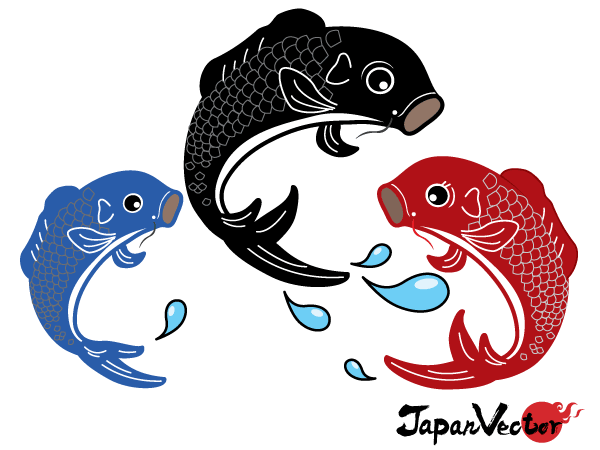 Japanese koi fish vector free download japanese vectors for Koi fish vector